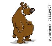 big fat lazy bear   Shutterstock .eps vector #793229527