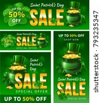 saint patricks day sale. cover... | Shutterstock .eps vector #793235347