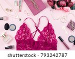 fashion collection with sexy... | Shutterstock . vector #793242787