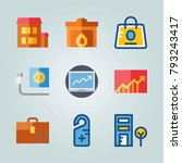 icon set about real assets.... | Shutterstock .eps vector #793243417