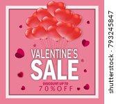 valentines day  vouchers ... | Shutterstock .eps vector #793245847