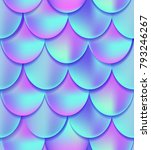 holographic mermaid tail... | Shutterstock . vector #793246267