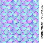 holographic mermaid tail... | Shutterstock . vector #793246357