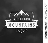 mountains logo emblem vector...   Shutterstock .eps vector #793247677