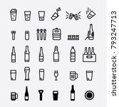 beer bottle and glass. draft... | Shutterstock .eps vector #793247713