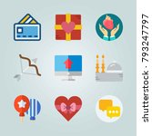 icon set about romance... | Shutterstock .eps vector #793247797