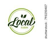 local farm lettering in green...