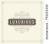 ornament logo design template...   Shutterstock .eps vector #793251433