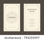 luxury business card and... | Shutterstock .eps vector #793255597