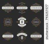 luxury logos templates set ... | Shutterstock .eps vector #793257577