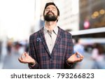 well dressed man in zen... | Shutterstock . vector #793266823