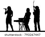 musical group in concert on... | Shutterstock .eps vector #793267447