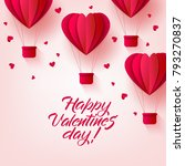 vector happy valentines day... | Shutterstock .eps vector #793270837