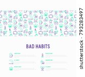 bad habits concept with thin... | Shutterstock .eps vector #793283497