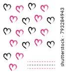 heart shape letter pad design... | Shutterstock .eps vector #793284943