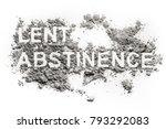 Lent Abstinence Word Text...