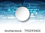 vector abstract futuristic... | Shutterstock .eps vector #793293403