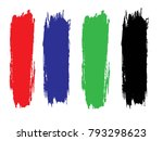 set of grunge lines. isolated... | Shutterstock .eps vector #793298623