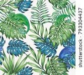nature chameleon exotic blue... | Shutterstock .eps vector #793304437