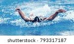 professional swimmer  swimming... | Shutterstock . vector #793317187