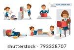 children library of education... | Shutterstock .eps vector #793328707