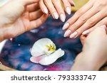 beautiful skin care. woman... | Shutterstock . vector #793333747