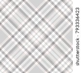 plaid check patten in grey ... | Shutterstock .eps vector #793336423