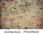 peeling stucco wall background. ... | Shutterstock . vector #793339633