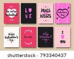 valentines greeting card set... | Shutterstock .eps vector #793340437