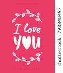 valentines greeting card with... | Shutterstock .eps vector #793340497