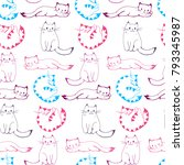 seamless pattern with colored... | Shutterstock . vector #793345987