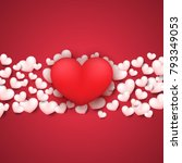 hearts background with happy...   Shutterstock .eps vector #793349053