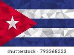 cuba flag. abstract polygon... | Shutterstock .eps vector #793368223