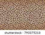 Stock vector leopard texture brown beige with darker border vector 793375213