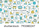 flat line design banner on... | Shutterstock .eps vector #793380247