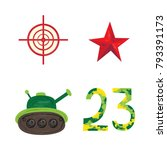 vector flat army  military  23... | Shutterstock .eps vector #793391173