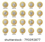 cripto currency logo coins.... | Shutterstock .eps vector #793392877
