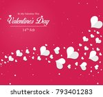 valentines day poster with... | Shutterstock .eps vector #793401283