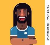 black soccer player avatar in...