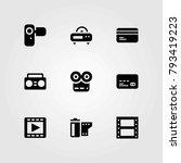 technology vector icons set.... | Shutterstock .eps vector #793419223