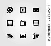 technology vector icons set. tv ... | Shutterstock .eps vector #793419247