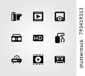 technology vector icons set.... | Shutterstock .eps vector #793419313