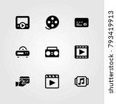 technology vector icons set.... | Shutterstock .eps vector #793419913