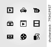 technology vector icons set.... | Shutterstock .eps vector #793419937
