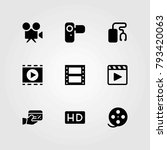 technology vector icons set.... | Shutterstock .eps vector #793420063