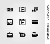 technology vector icons set.... | Shutterstock .eps vector #793420093