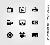technology vector icons set. hd ... | Shutterstock .eps vector #793420117