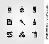 medical vector icons set....   Shutterstock .eps vector #793423603