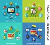 seo analytics square design... | Shutterstock . vector #793429987