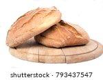 freshly baked loaf of bread on...   Shutterstock . vector #793437547